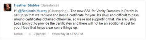 vanity domains ssl for your pardot vanity domain coming february 1