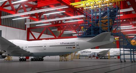aircraft maintenance hangar 3d model aircraft maintenance hangar a380