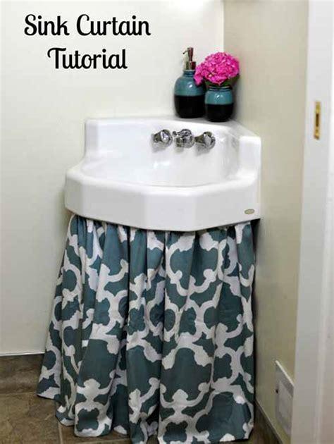 sink curtain skirt easy diy tutorial