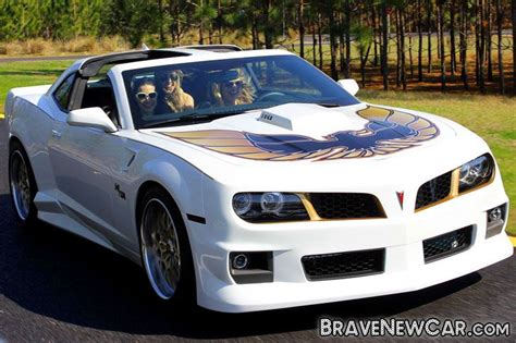 White-colored Pontiac Trans Am 2015, Remodeled After