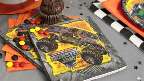 monster truck jam party supplies monster truck jam party supplies youtube