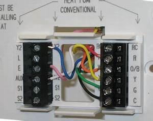 Wiring Pre Circuit Diagram  Honeywell Rth7600d Touchscreen