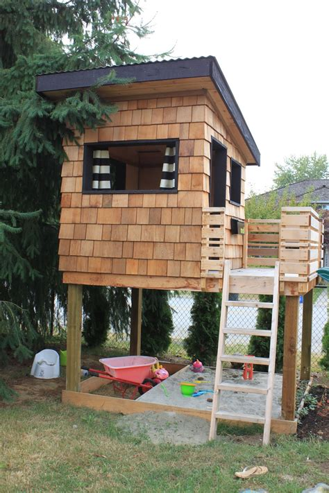 Backyard Play House by Dirt Digging Diy Modern Playhouse