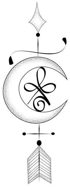 image result  sternum moon tattoo rat  tat tatt pinterest crossed arrow tattoos