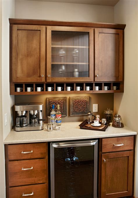 Home Coffee Bar Design Ideas by Coffee Bar Ideas Kitchen Traditional With Wood Mode