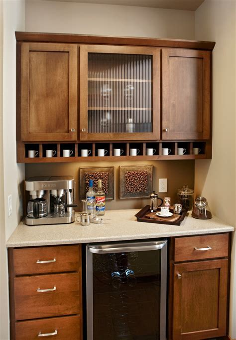 Coffee bar ideas kitchen traditional with wood mode
