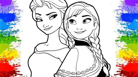 Disney Princess Coloring Book Compilation Ana Elsa Frozen