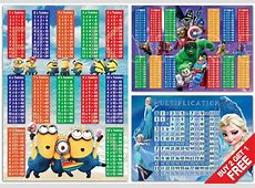 Minions Frozen Lego Maths Kids Bedroom Multiply Times