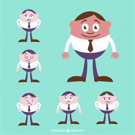 Cute Men Templates by Cute Character Vector Businessman Vector Free Download