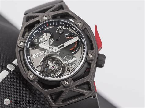 Collections of luxury watches for men and ladies, reflecting swiss watchmaking excellence. Techframe | Hublot | Ferrari | PEEK Carbon | Tourbillon | Chronograph