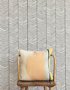 Schablone Wand Barock : herringbone grauweiss schwarz geometrische tapeten tapetenmuster tapeten der 70er ~ Bigdaddyawards.com Haus und Dekorationen