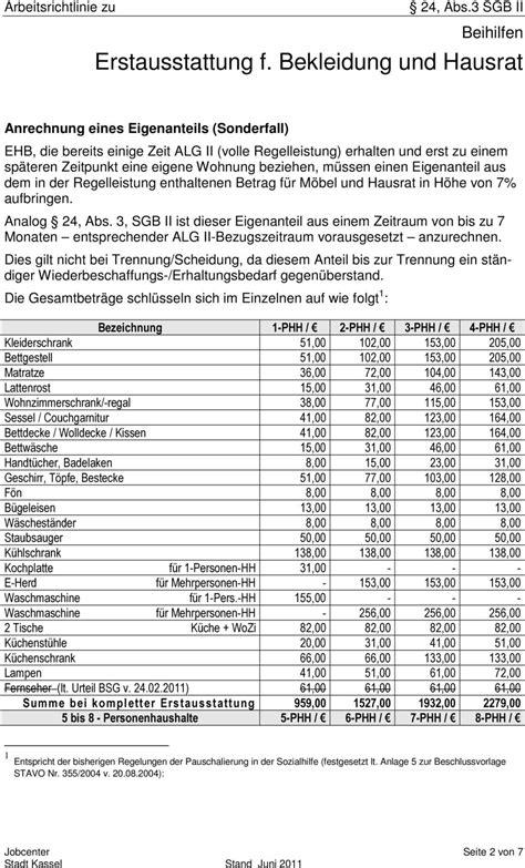 Liste Erstausstattung Wohnung by Erstausstattung F Bekleidung Und Hausrat Pdf