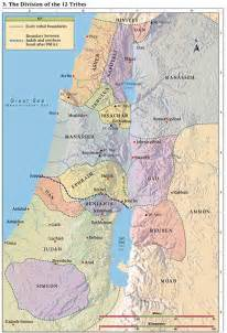 Bible Maps Tribes of Israel