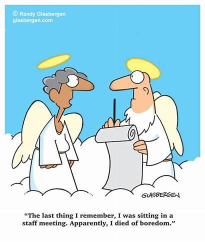 Cartoons Death Meeting Meetings Fun Agenda Glasbergen