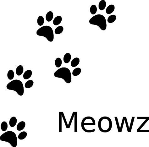 cat paw print cat paw prints clip art vector clip art