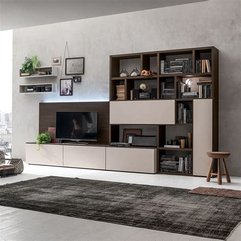 libreria d soggiorno moderno alen