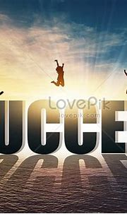 Success sunset silhouette creative image_picture free ...