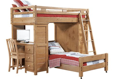 rooms to go childrens desk creekside taffy twin twin student loft bed w desk with