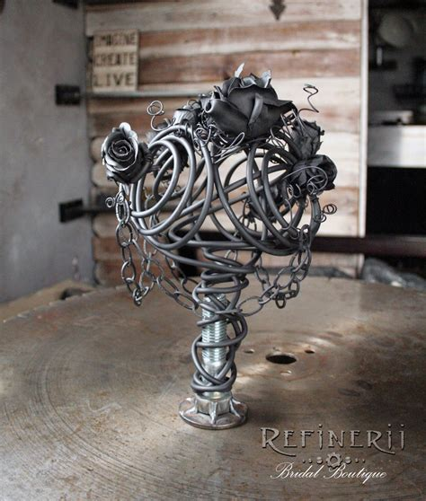 Gothic Wedding Bouquet Created From Metal A Unique
