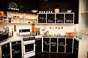 Foodista 5 chalkboard ideas for your kitchen for Best brand of paint for kitchen cabinets with security sticker