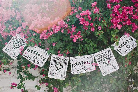 diy papel picado banner  cricut green wedding shoes