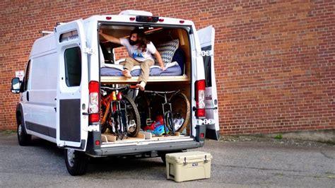 diy camper van conversion bed build bed converts
