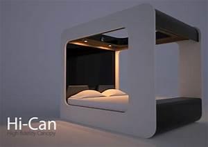 Lit Du Futur : lit multimedia futuriste hi can un papillon noir ~ Melissatoandfro.com Idées de Décoration