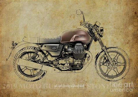 Moto Guzzi V7 Iii Backgrounds 2019 moto guzzi v7 iii blueprint vintage
