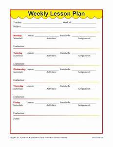 weekly teacher lesson plan template new calendar With primary school lesson plan template