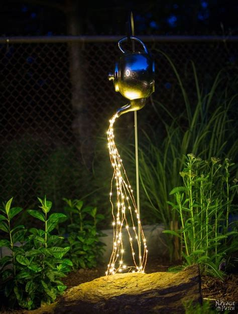 diy spilling solar string lights great outdoor ideas