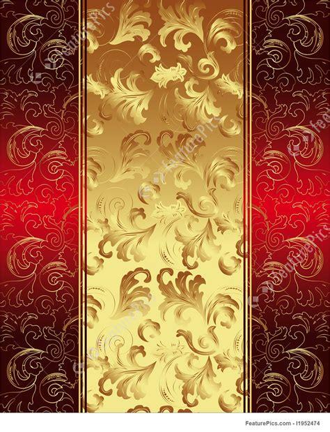 templates golden wallpaper stock illustration