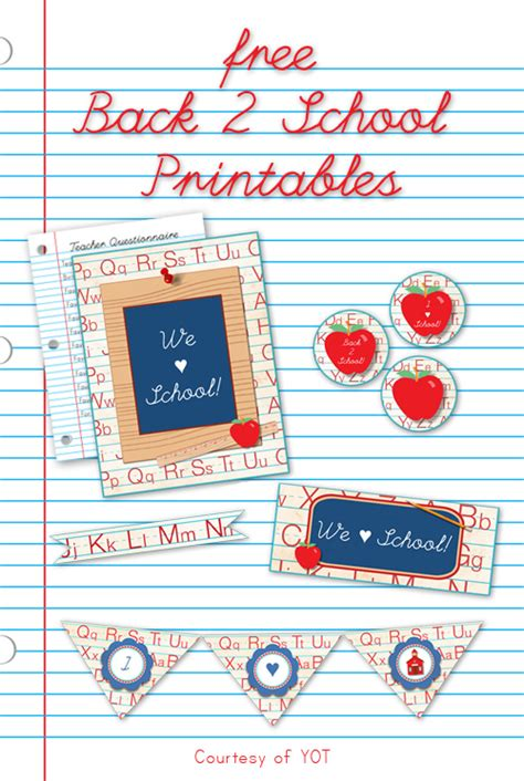 back to school ideas crafts and free printables