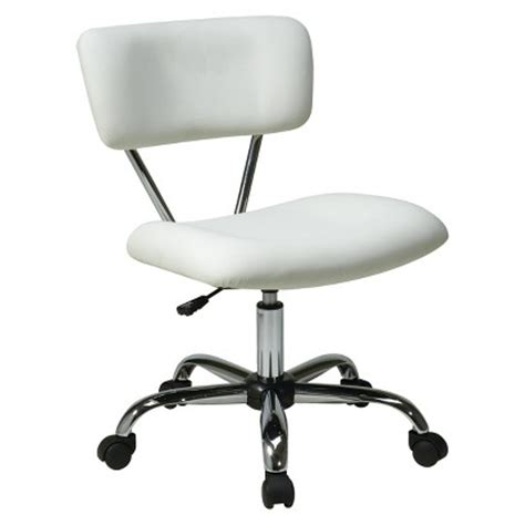 office vista chrome and vinyl desk chair target