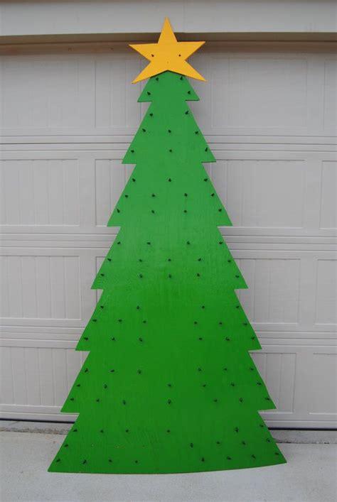 lighted wooden christmas tree christmas
