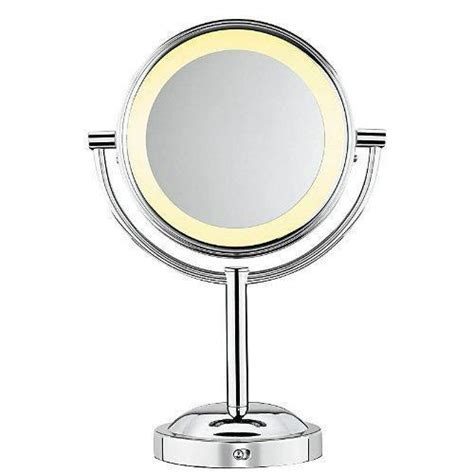 light up mirror with conair double sided battery operated lighted makeup mirror