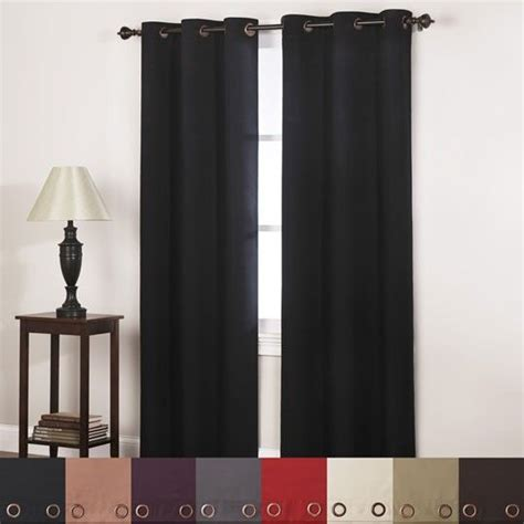 annas linens curtain panels blackout grommet top window curtain gray 11 89