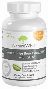 Naturewise Green Coffee Bean Extract 800  60 Capsules  Cga Diet Pill Fat Burner