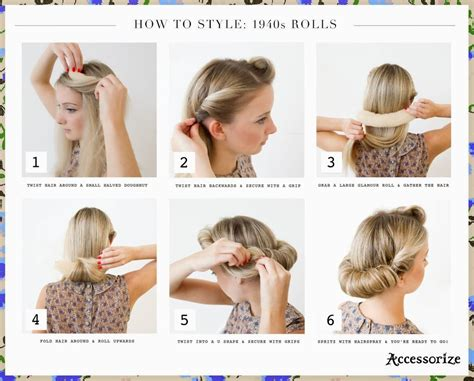 1940s Hairstyle Tutorial by Easy 40s Hairstyles 73104 Easy 1940s Hairstyles For
