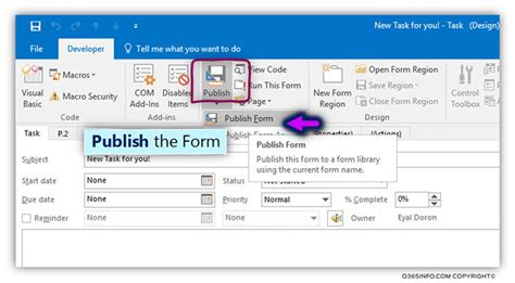 outlook form templates how to create publish organizational forms in office 365 o365info