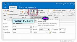 how to create publish organizational forms in office 365 With outlook form templates