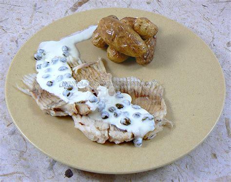 ailes de raie sauce au beurre fondu ou aux c 226 pres une