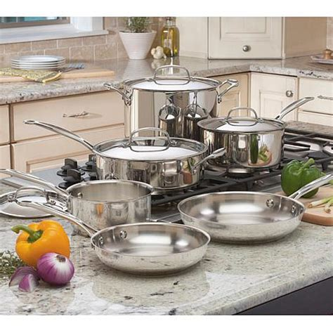 chefs classic  piece stainless steel cookware set  hsn