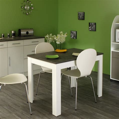 table cuisine rectangulaire table de cuisine rectangulaire contemporaine blanche béton