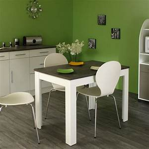 table de cuisine rectangulaire contemporaine blanche beton With table cuisine contemporaine design