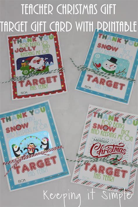 teacher christmas gift idea printable for target gift