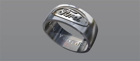 Buy A Hand Crafted Ford Ring Custom Wedding Band, Made To