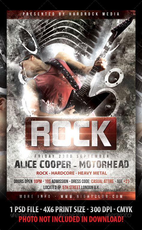 rock concert flyer  fadeink graphicriver