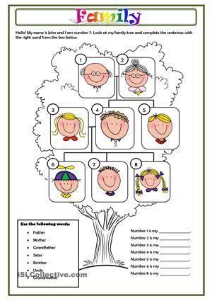 family  images family worksheet family tree