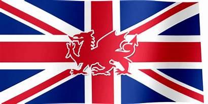 Flag Kingdom United Wales Waving Dragon Welsh