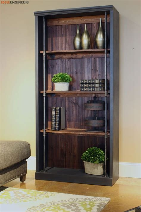 3 Foot High Bookcase by Industrial Bookcase Free Diy Plans Rogue Engineer Diy